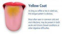 gele tongaanslag; yellow coating