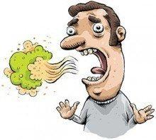 ineens last van slechte adem